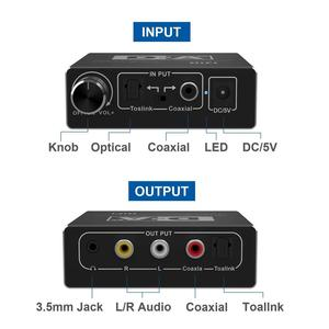 Image 3 - דיגיטלי לאנלוגי ממיר אודיו אופטי Toslink קואקסיאלי לאנלוגי RCA L/R 3.5mm שקע אודיו מתאם עבור xbox HD DVD Blu ray PS3