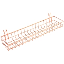 Wall-Shelf Rose-Gold Hanging-Tray Wire Grid for Easy Things Cute