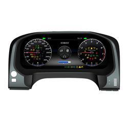 Z systemem Android Instrument wymiana panelu deski rozdzielczej System rozrywki dla Toyota Prado 2010 2019 w Zestawy liczników i desek rozdzielczych od Samochody i motocykle na