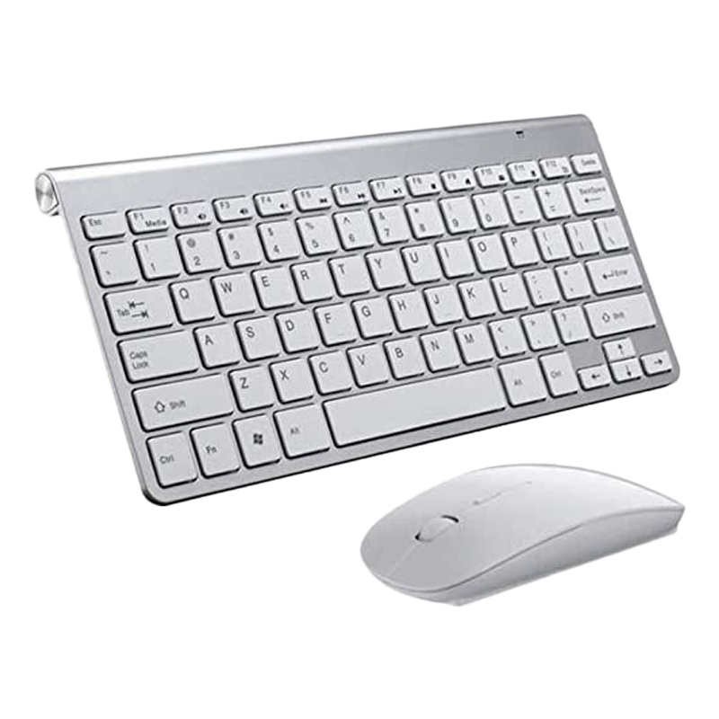 Wireless Keyboard and Mouse Comb Silent Click Mutimedia 2.4G USB Keyboard Mouse Set for Notebook Office Supplies