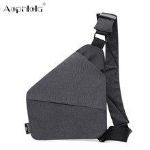 Bolsa de viagem masculina fino bolsa de ombro à prova de burglarproof coldre anti roubo cinta de segurança armazenamento digital peito saco masculino cartão muti-bolso