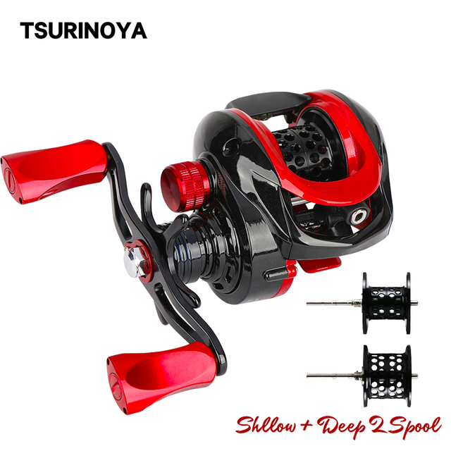 TSURINOYA 2 Spool Ultralight Baitcasting Fishing Reel XF 50 Weight Long Casting TROUT Reel Smooth Casting Reel