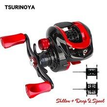 TSURINOYA moulinet Baitcasting, ultraléger, 2 bobines, pour pêche à la truite, Casting Long, lisse, XF 50 poids