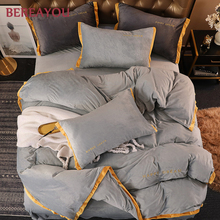 3/4pcs Luxury Bedding Sets Velvet Weighted Christmas Duvet Cover Set Red Wedding Korean Bedding King Size Bed Linen Comforter