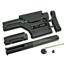 Pts prs ubr carabina estoque de liga alumínio butt estoque para m4/m16 série aeg ctr acs rifle estoque
