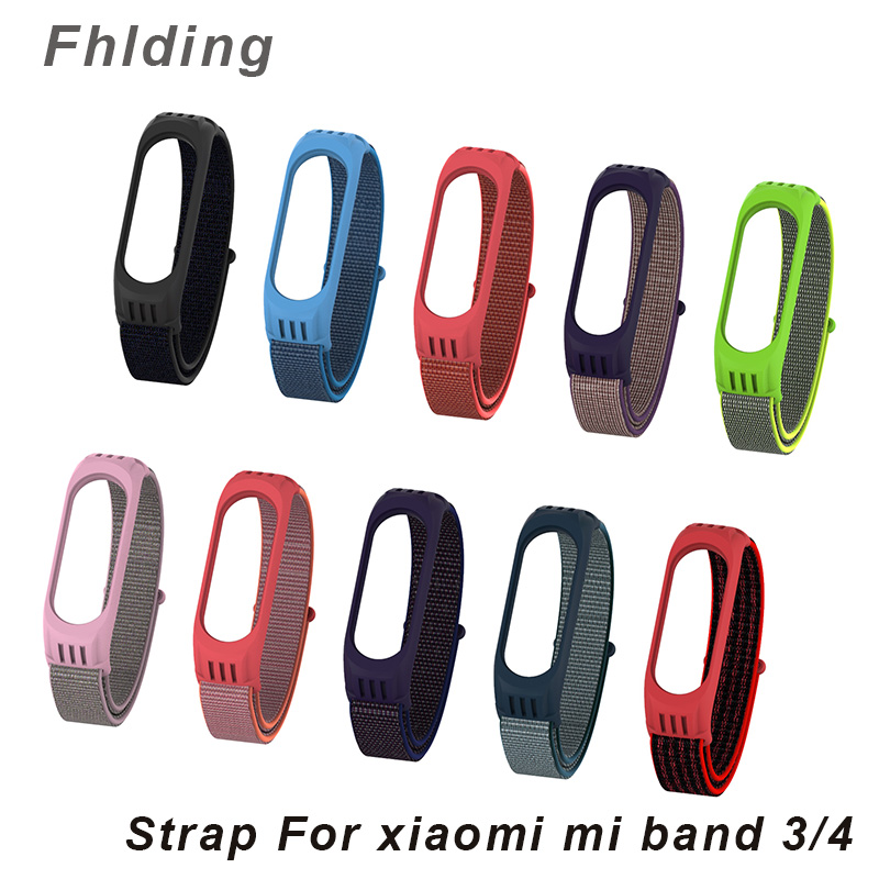Nylon Replaceable Wristband For Xiaomi Mi Band 4 3 Strap Silicone Sports Bracelet For Mi Band 4 Miband 3 Smartwatch Accessories