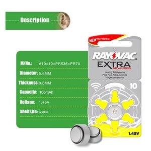Image 4 - 60 pçs de ar zinco rayovac desempenho extra aparelho auditivo baterias a10 10a 10 pr70 aparelho auditivo bateria a10 frete grátis