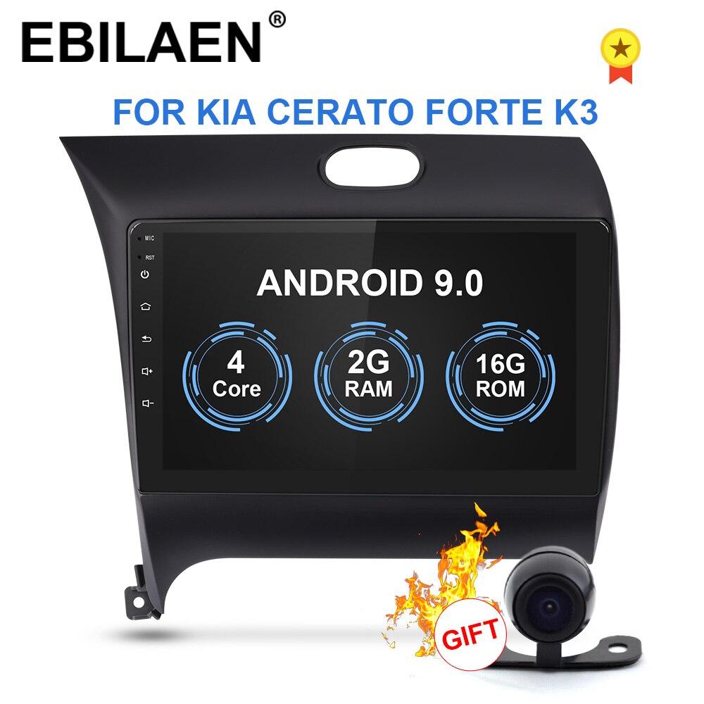 EBILAEN Android 9.0  Car Multimedia Dvd Player For KIA Cerato Forte K3 2012-2016 2Din Car Radio Navigation GPS Auto Stereo