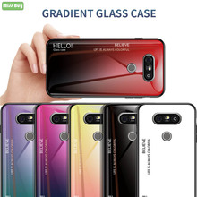 For LG G5 Luxury Colorful Gradient Tempered Glass Shell For LG G5 H850 VS987 H820 LS992 H830 Soft Silicone TPU Edge Fitted Case tpu case for lg g5 colorful dot pattern phone protective shell