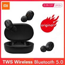 Xiao mi Red mi Airdots TWS Bluetooth наушники Молодежная версия стерео mi ni Беспроводная Bluetooth 5,0 гарнитура с mi c наушниками