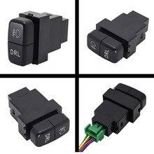 1Pc Dual Sleutelschakelaar Dual Schakelaar Mistlamp Recorder Radar Voeding Dagrijlichten Switch Knop Voor Mitsubishi nieuwe