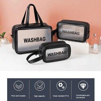 Waterproof  Washbag Transparent Cosmetic Case Large Capacity Portable Travel Makeup Organizer Storage Bag PVC Zipper Handbags - discount item  27% OFF Special Purpose Bags