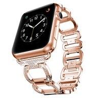 Luxus Metall Diamant Armband für Apple Uhr Band 44mm 42mm iwatch SE 6 5 4 3 2 1 38mm 40mm Edelstahl Schleife Handgelenk Gurt