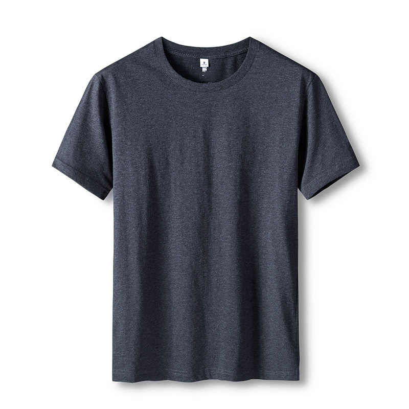 2020 남자 티셔츠 10 기본 색상 반소매 슬림 티셔츠 청년 퓨어 컬러 티 셔츠 4XL 사이즈 라운드 넥 탑 티 인과