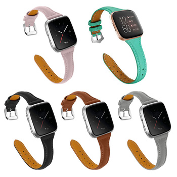 Genuine Leather Bands Compatible with Fitbit Versa/Versa 2 Watch Fitness Strap Replacement For Fitbit Versa SE/Versa Lite Smartw