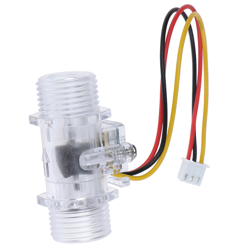 G1//2 High Precision Transparent Water Flow Effect Sensor Control Flowmeter For Water Heater Transparent Water Flow Effect Sensor Control Flowmeter For Water Heater G1//2