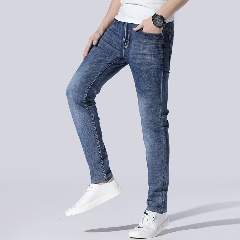 2020 New Fashion Ripped Washed Jeans Business Casual Elastic Slim Jeans Plus Size 40 42 44 46
