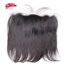 Brazilian Virgin Straight Human Hair Lace Frontal Closure 13x413x6 With Pre Plucked Baby Hair Free Part Swiss Lace Natural Color