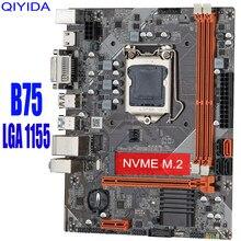 Материнская плата B75 для Intel LGA 1155 i3 i5 i7 E3 DDR3 16 ГБ SATA3.0 USB3.0 PCI-E VGA HDMI GAME