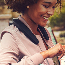 TF Card Radio Stylish Bluetooth Speaker Hanging Neck Hands Free Audio Sport Sound Wearable USB Charging Multifunction Wireless