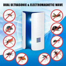Ultrasonic Hama Repeller Nyamuk Indoor Plug Elektronik Mole Repeller Serangga Tikus Repeller Pengusir Hama Menolak(China)
