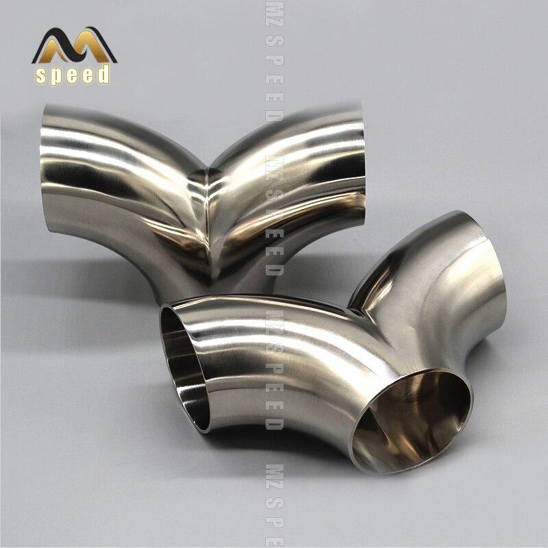 Acessórios de aço inoxidável 304 sub-interface sub-dois acessórios de transferência universal tubo de escape de soldagem eliminador de ruído