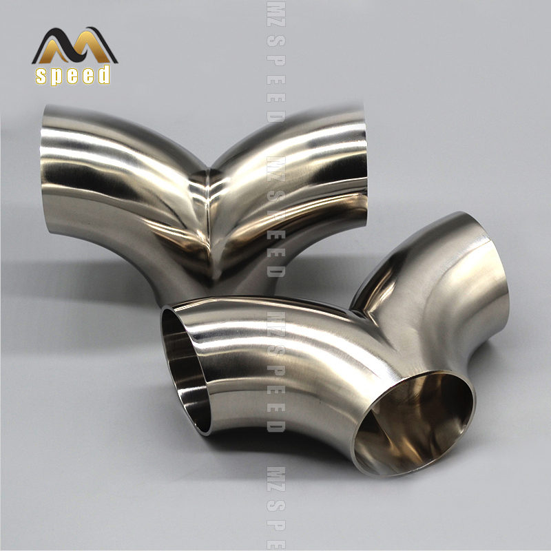 Accessories 304 Stainless Steel Sub - Interface Sub - Two Transfer Accessories Universal Welding Exhaust Pipe Noise Eliminator