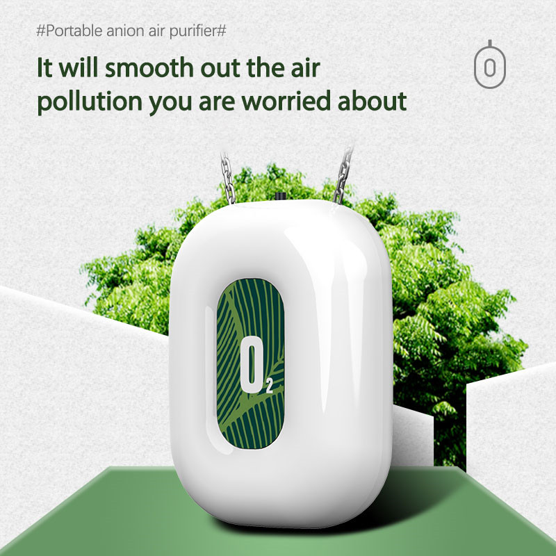 Wearable Necklace Air Purifier Mini Portable Negative Ion Generator Low Noise Low Noise for Adults Kids For Car Air Purifiers