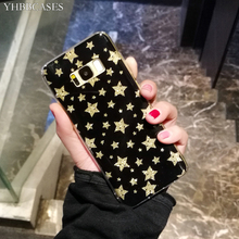 YHBBCASES Glitter Gold Stars Phone Cover For Samsung Galaxy S10 5G S8 S9 Plus Fashion Bling Cases Note 10 Pro 8 9