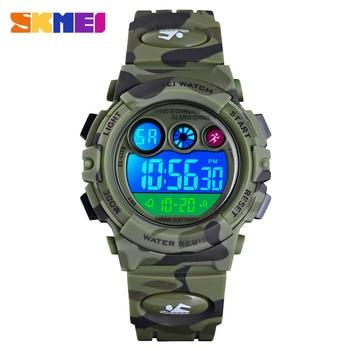 SKMEI Boys Girls LED Electronic Digital Watch Clock 50M Waterproof Wristwatch Sport Watches For Kids Children Montre Pour Enfant