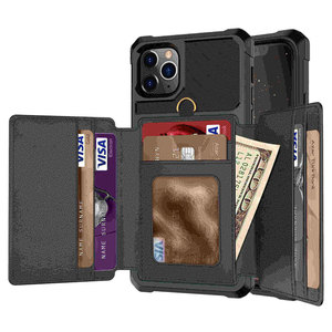 Image 1 - Para o iphone 11 pro x xr xs max caso, wefor cartão de crédito luxo dinheiro carteira kickstand volta caso para iphone 6s 7 8 plus telefone capa