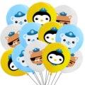 12 шт./лот «Октонавты» шары 12 дюймов Полар-флиса с рисунком кошки медведя с рисунком пингвина из латекса баллон с графикой из мультиков морск...