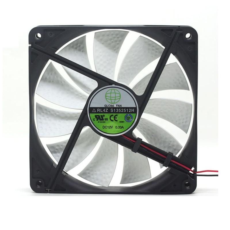For GLOBE FAN RL4Z B1352512H SXD13525B12H 12V 0.33A 0.70A 13.5CM Chassis Power Cooling Fan 135x135x25mm Cooler