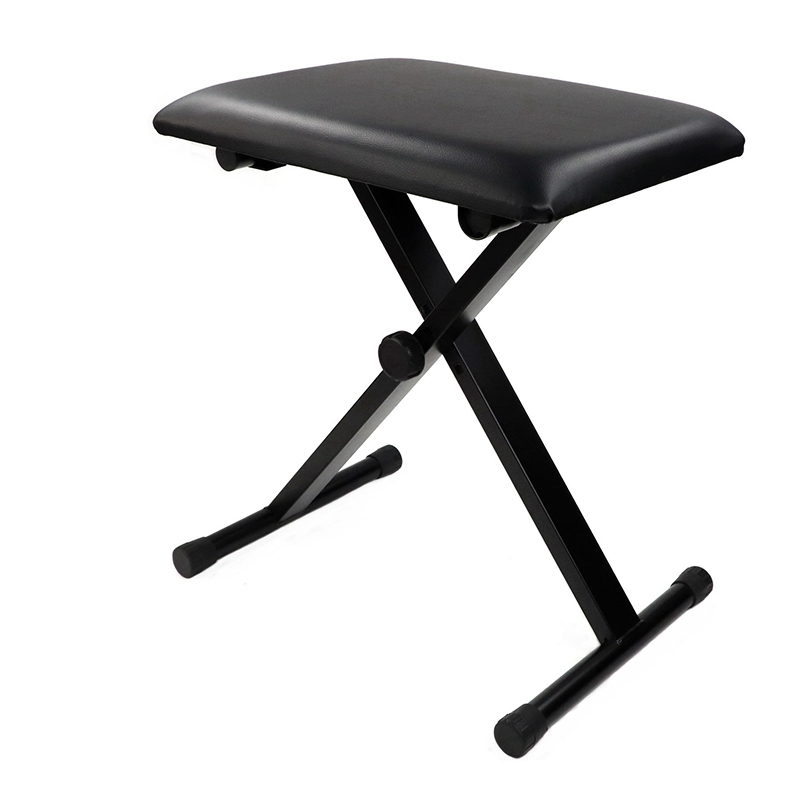 Piano Stool Chair Bench Piano Keyboard Bench Adjustable Folding Black Single Practicing Piano Bench