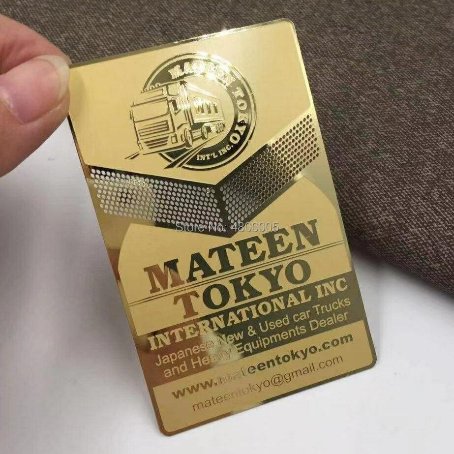 2020 Hollow Out Golden Metal Business Card,design Cut Out Gold Metal Card,stainless Steel Metal Business Card