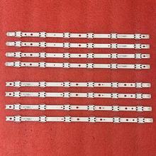 5セット = 20個ledバックライトストリップlg 49UV340C 49UJ6525 49UJ6585 49UJ6565 49UJ651V 49UJ670V 49UJ701V V17 49 R1 l1 ART3 2862 2863