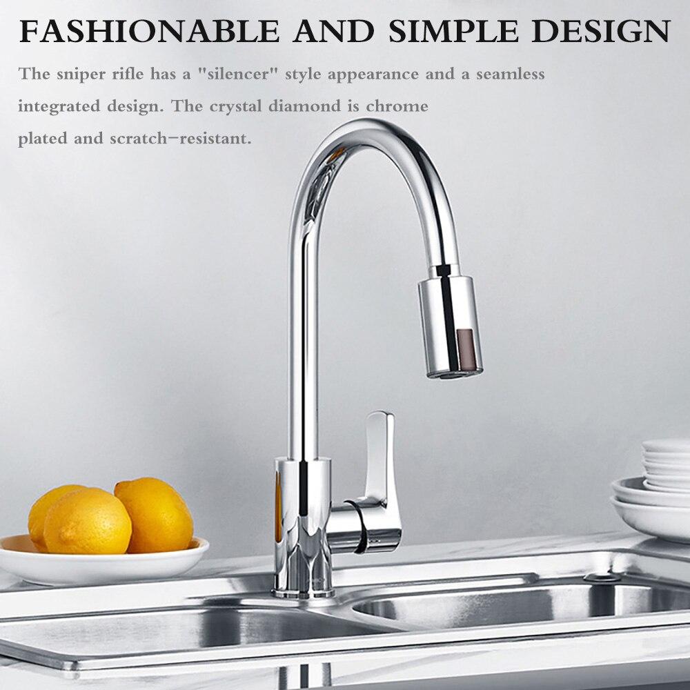H09f3214f11ba42ddbaa0f46d786eb91by Smart Sensor Kitchen Faucets Water-Saving Sensor Non-Contact Faucet Infrared Sensor Adapter For Kitchen Bathroom sensor Faucet