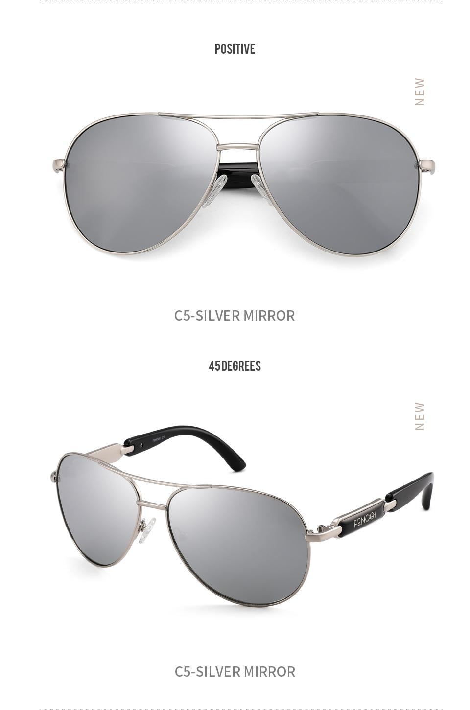 H09f322b77e224ef398919db37d623acdo FENCHI Polarized Sunglasses Women Vintage Brand Glasses Driving Pilot Pink Mirror sunglasses Men ladies oculos de sol feminino