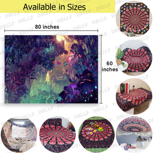 Image 5 - Simsant Mushroom Forest Castle Tapestry Fairytale Trippy Colorful Butterfly Wall Hanging Tapestry for Home Decor GT2TDBZY0425