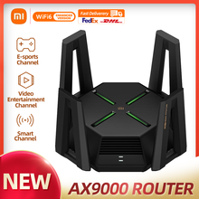 XIAOMI AX9000 Router Tri-Channels WIFI6 Enhanced Version Quad-Core CPU 1GB RAM 4K QAM 12 High-Gain Antennas Mesh E-sport Router