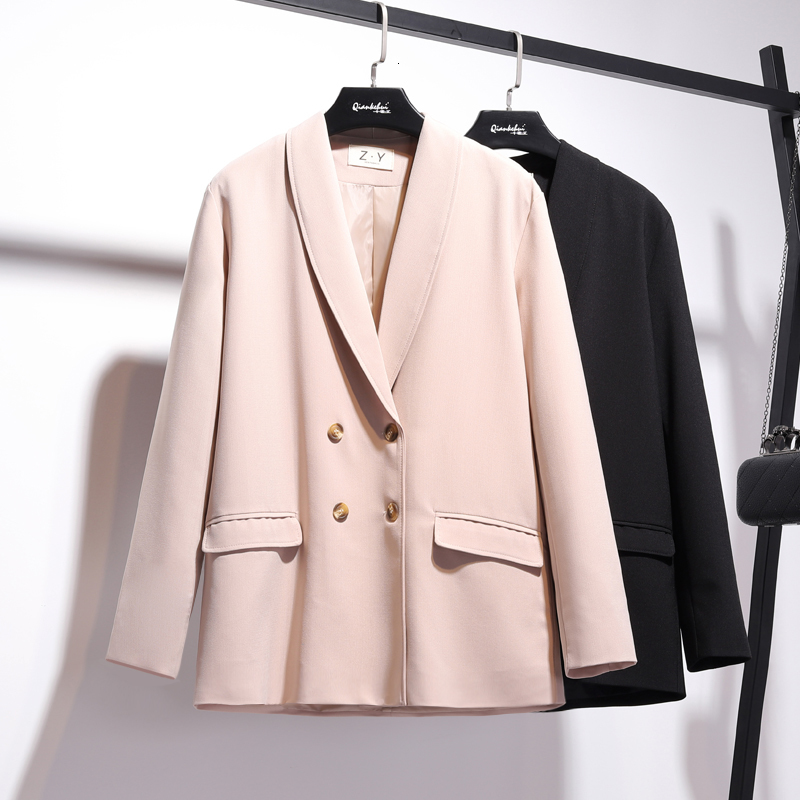 [LANMREM] 2019 Autumn And Winter New Products Fashion Lapel Long Sleeve Two Buckle Rounded Small Suit Short Jacket PA756