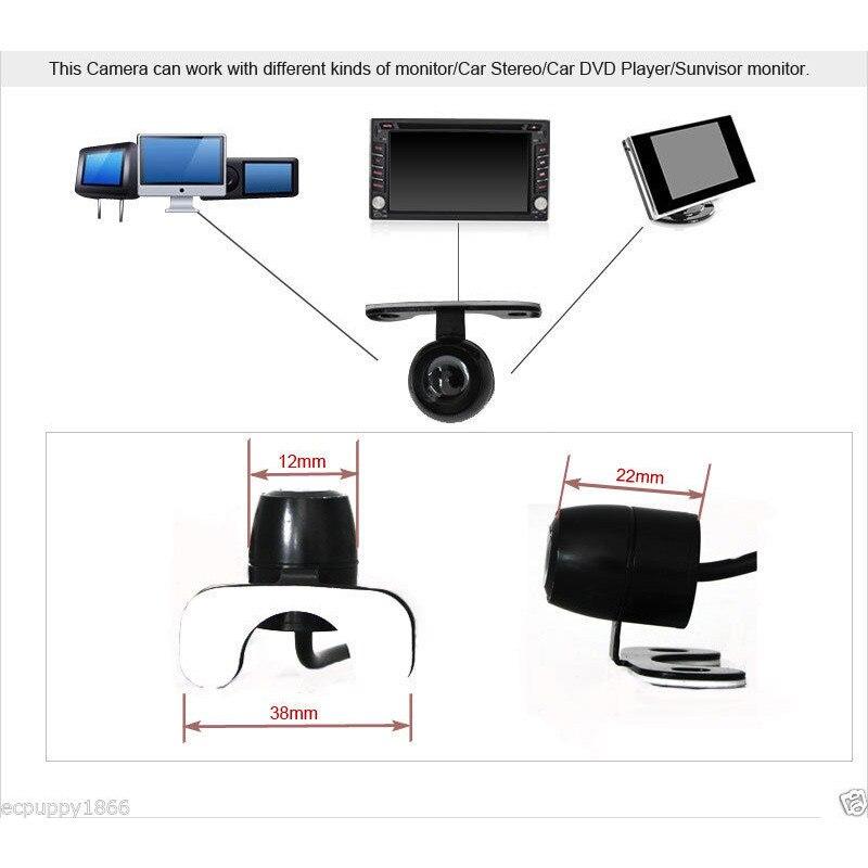 New Night Vision 120 Degree Car Front/Rear View Camera Reversing Backup Camera 4