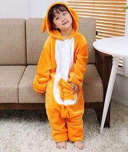 Image 3 - Kigurumi Pajamas Kangaroo Kids Animal Children Pajamas for Boys Girls Baby Cute Pyjama Onesies Winter Long Sleeve Sleepwear