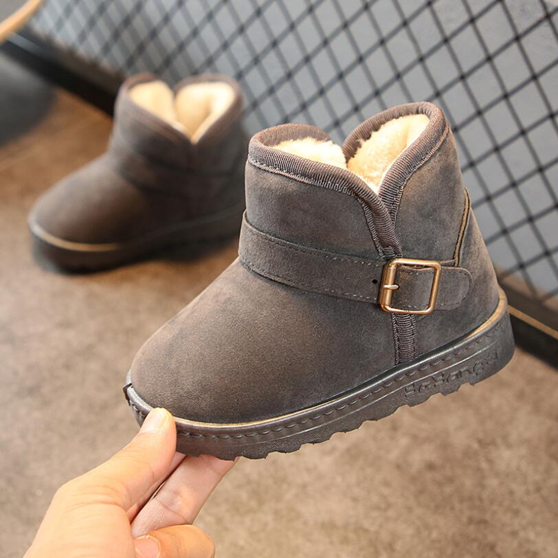 Infant Toddler Baby Girl Boy Winter Warm Casual Snow Boots Buckle Ankle Shoes U