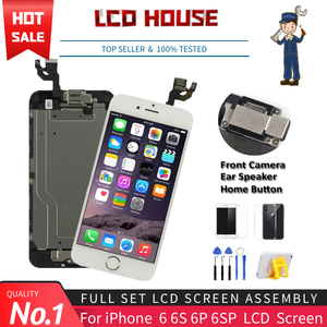 Image 1 - Complete LCD For iPhone 6 6S Plus Display LCD Touch Screen Digitizer Assembly Replacement Full Set Ecran with Home button+Camera