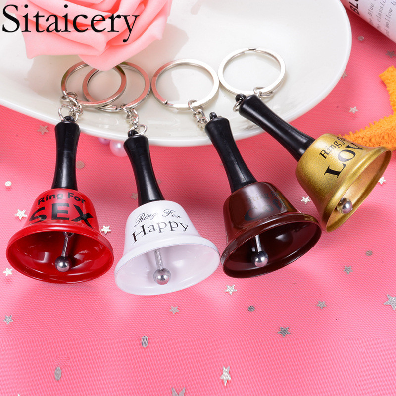 Sitaicery Cute Hand Bell Keychain For Bag Car Keys Chain Pendant  Jewelry Acrylic Key Ring Women Accessories Trinket Best Gift