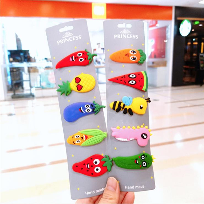 1Pcs Korean Fashion Hair Clip Fruit vegetables Hairpin Cute Women Girls Hair Accessories   Headwear
