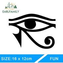 EARLFAMILY 13cm x 9.8cm EYE OF RA HORUS dio egiziano decalcomania del vinile adesivo per finestra paraurti da parete simbolo pagano adesivi per auto