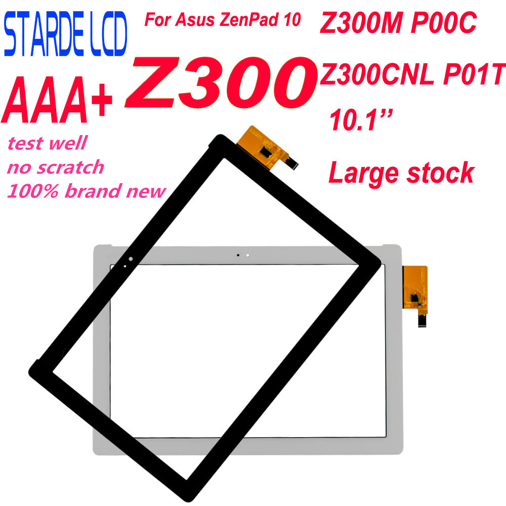 New For Asus ZenPad 10 ZenPad Z300 <font><b>Z300M</b></font> P00C Z300CNL P01T Touch Screen Digitizer Panel Sensor Tablet Yellow Ribbon Cable Parts image