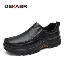 Мужские воздухопроницаемые туфли DEKABR, черные повседневные мокасины из мягкой натуральной кожи, модная обувь на плоской подошве, весна осень 2019Повседневная обувь    АлиЭкспресс